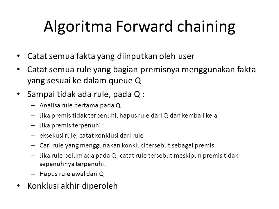 Algoritma Forward chaining