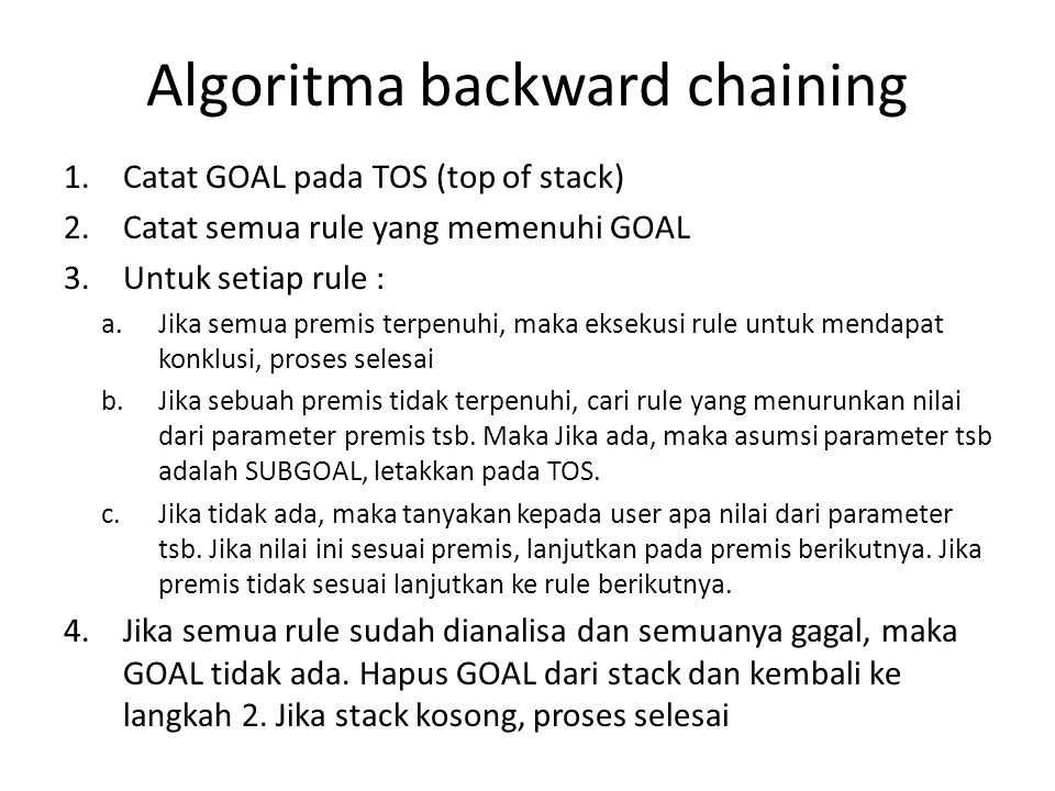 Algoritma backward chaining