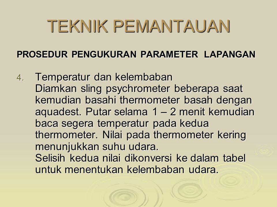 TEKNIK PEMANTAUAN Temperatur dan kelembaban