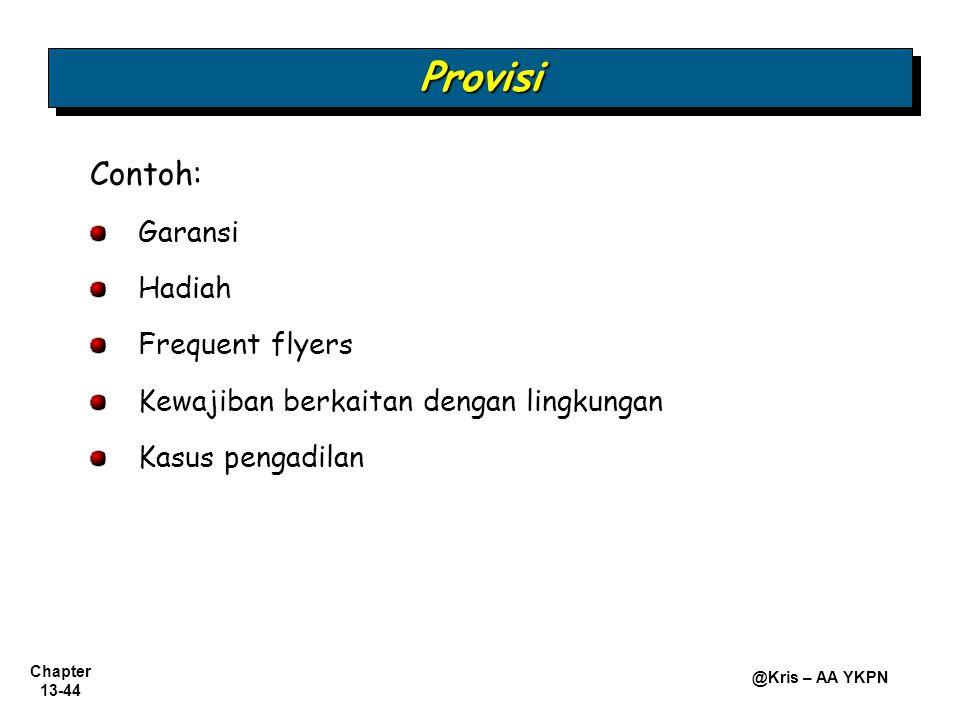 Provisi Contoh: Garansi Hadiah Frequent flyers