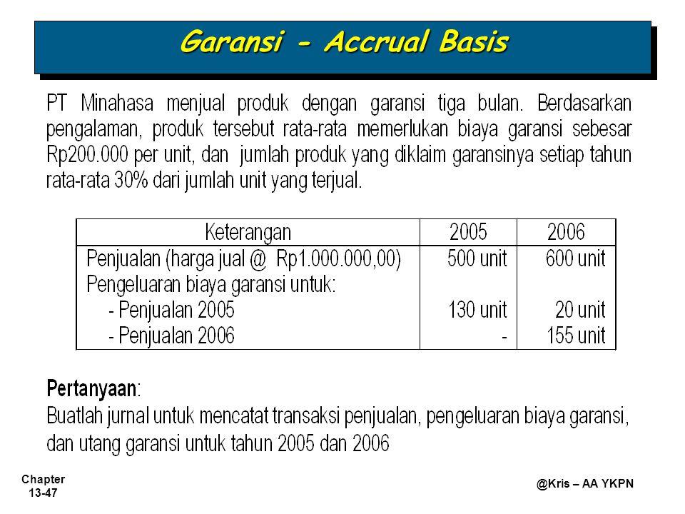 Garansi - Accrual Basis