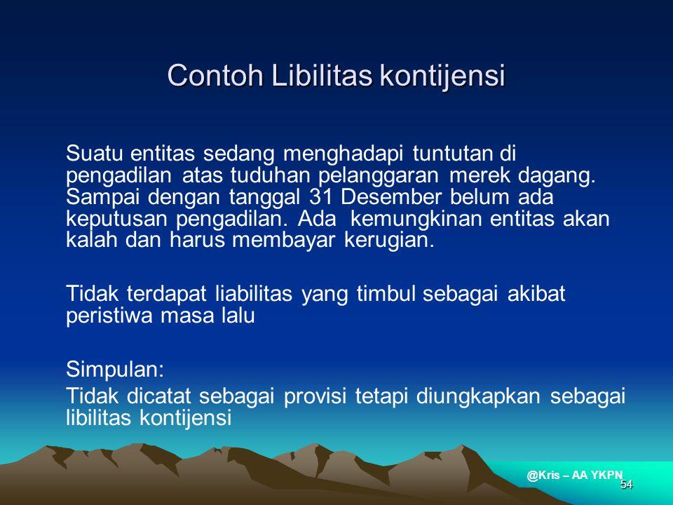 Contoh Libilitas kontijensi