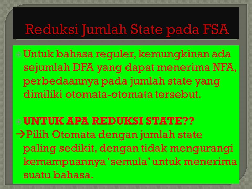 Reduksi Jumlah State pada FSA