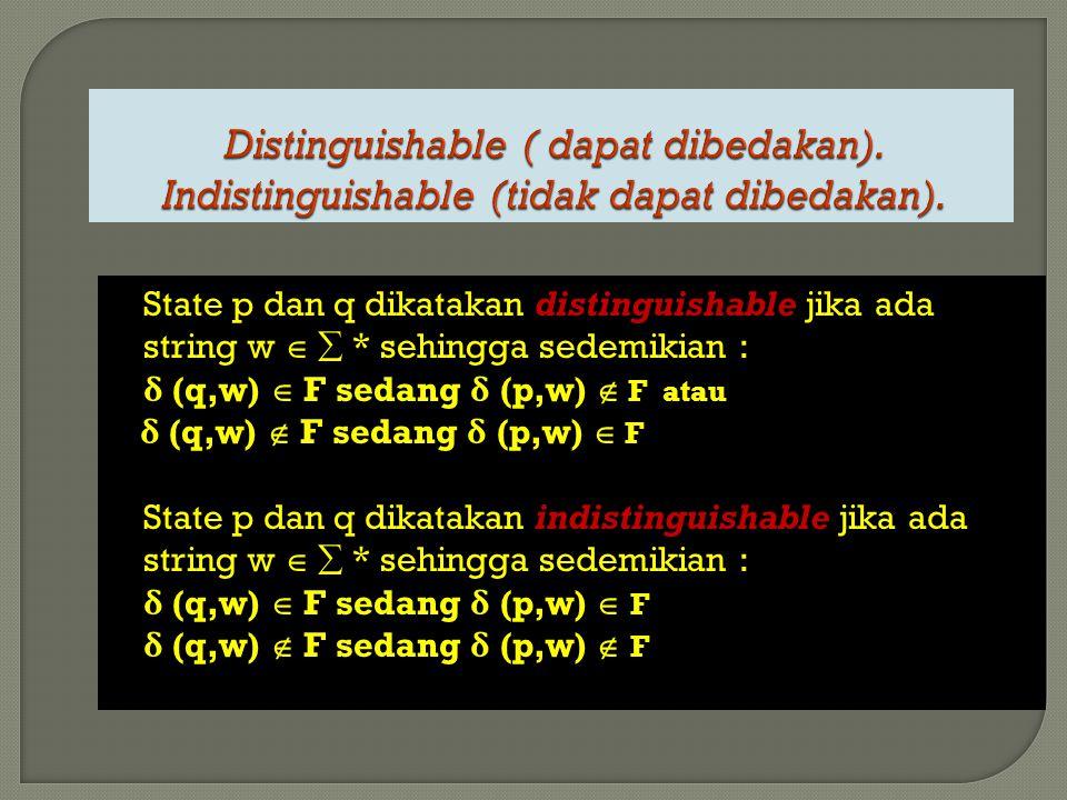 Distinguishable ( dapat dibedakan)