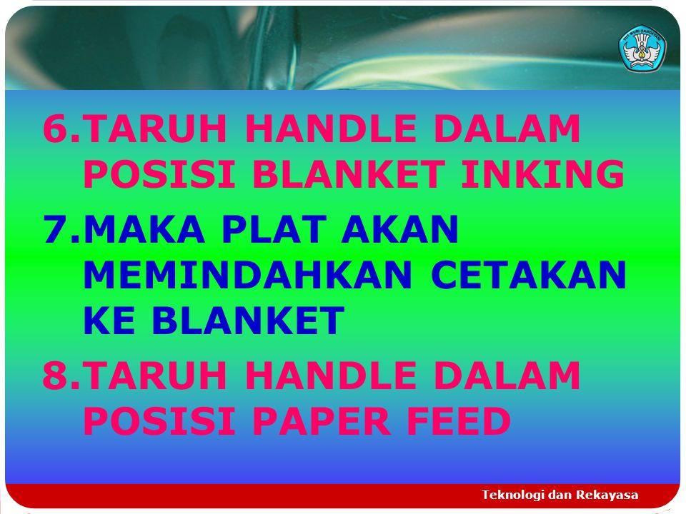 6.TARUH HANDLE DALAM POSISI BLANKET INKING