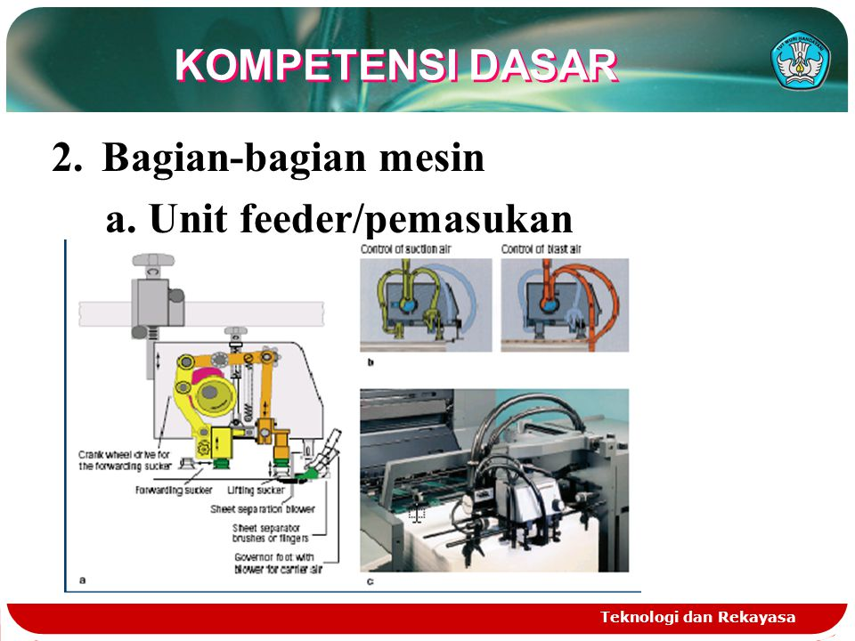 a. Unit feeder/pemasukan