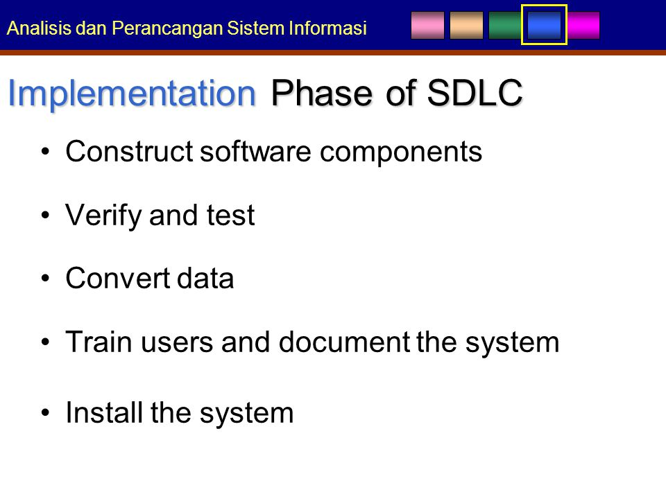 Implementation Phase of SDLC