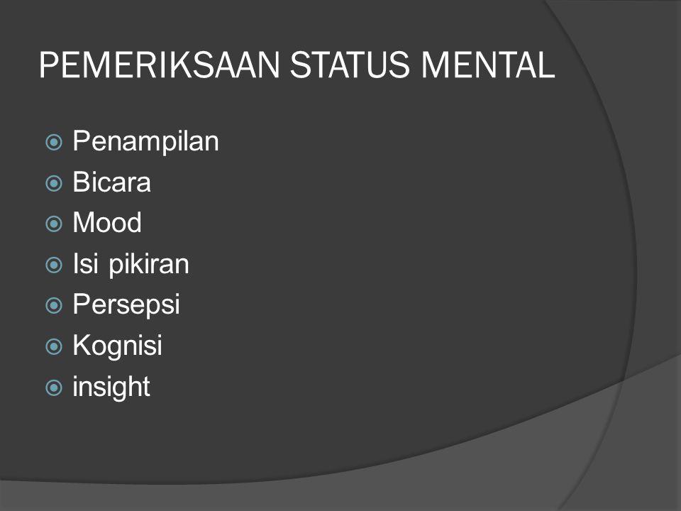 PEMERIKSAAN STATUS MENTAL