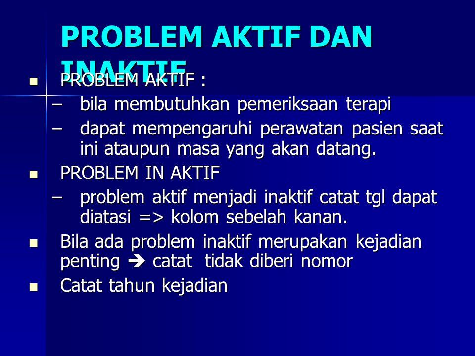 PROBLEM AKTIF DAN INAKTIF