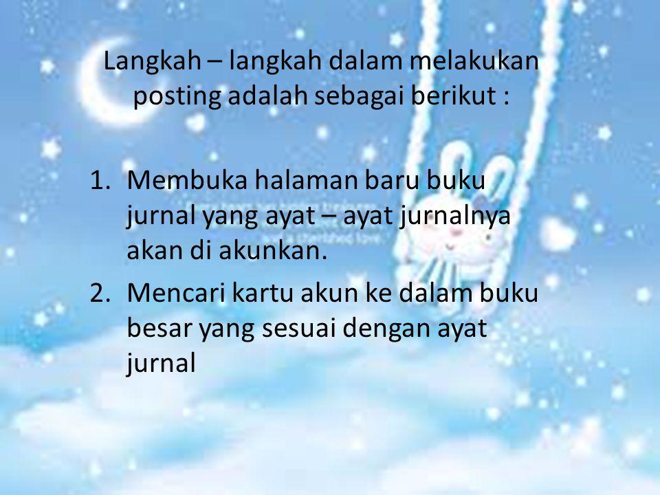 Langkah – langkah dalam melakukan posting adalah sebagai berikut :