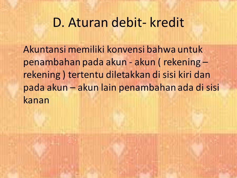D. Aturan debit- kredit