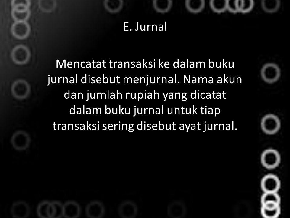 E. Jurnal