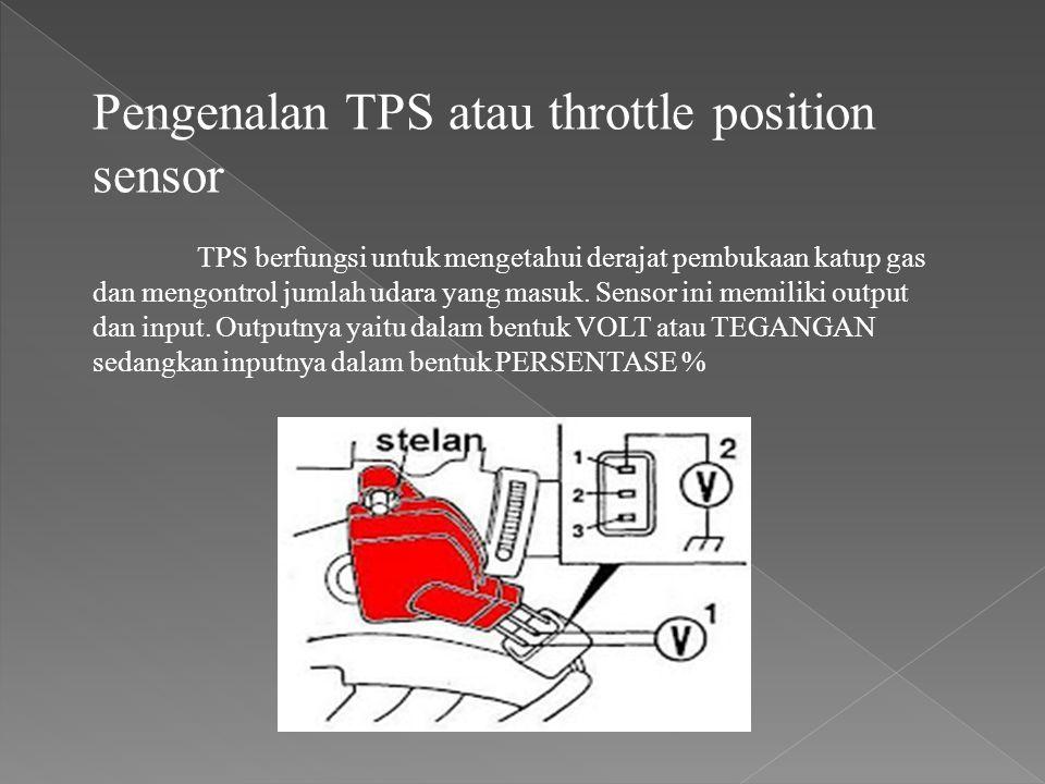Pengenalan TPS atau throttle position sensor