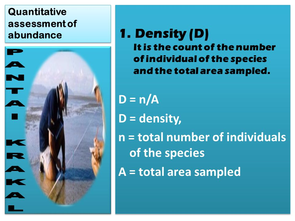 Quantitative assessment of abundance
