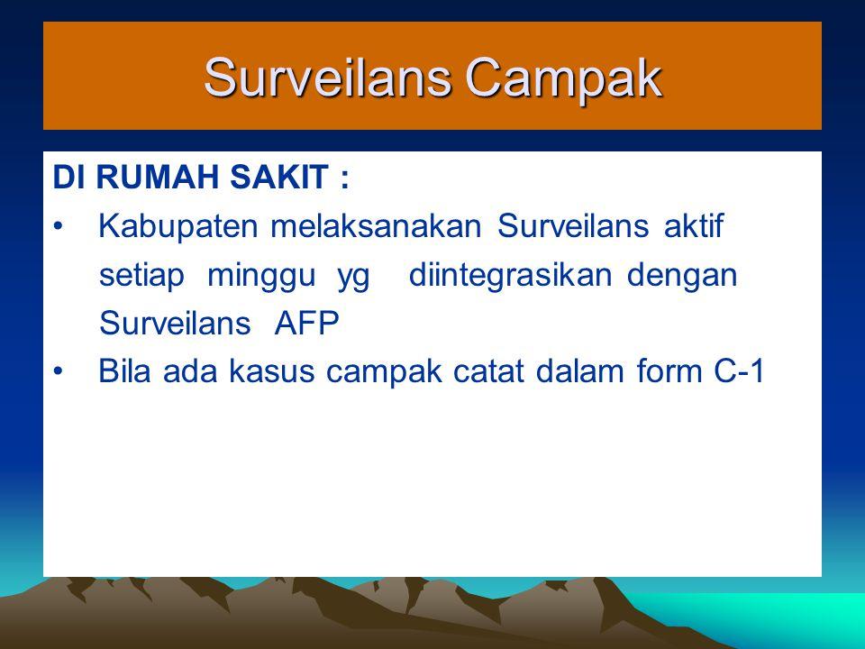 Surveilans Campak DI RUMAH SAKIT :