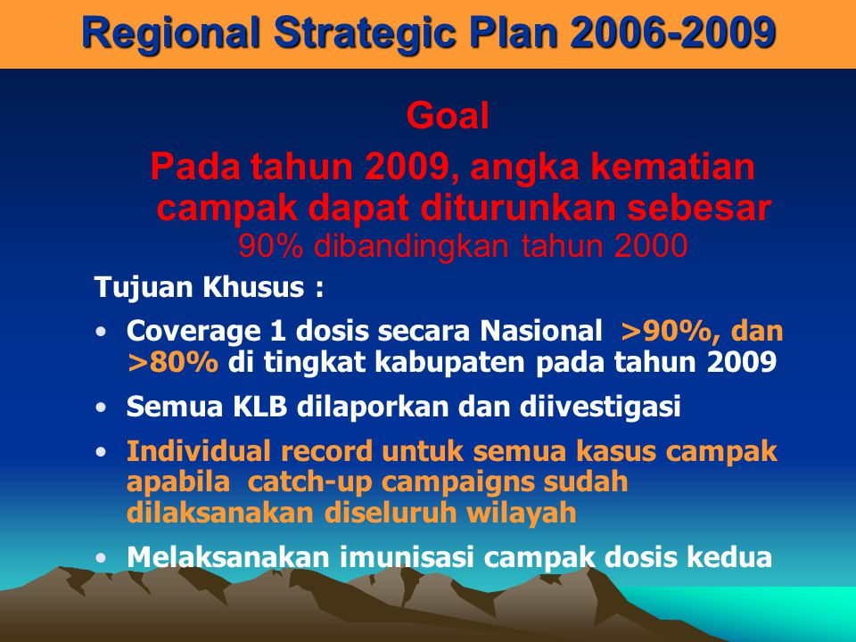 Regional Strategic Plan 2006-2009