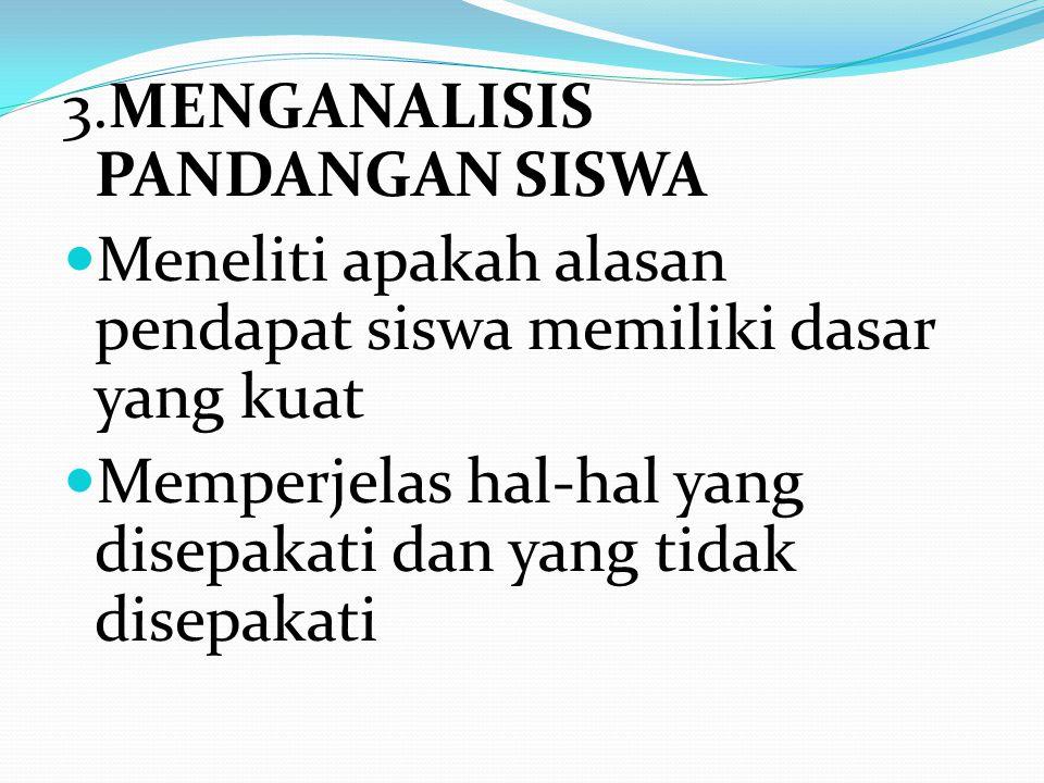 3.MENGANALISIS PANDANGAN SISWA