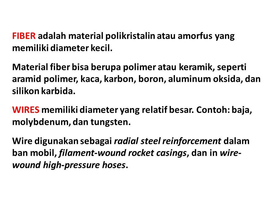 FIBER adalah material polikristalin atau amorfus yang memiliki diameter kecil.