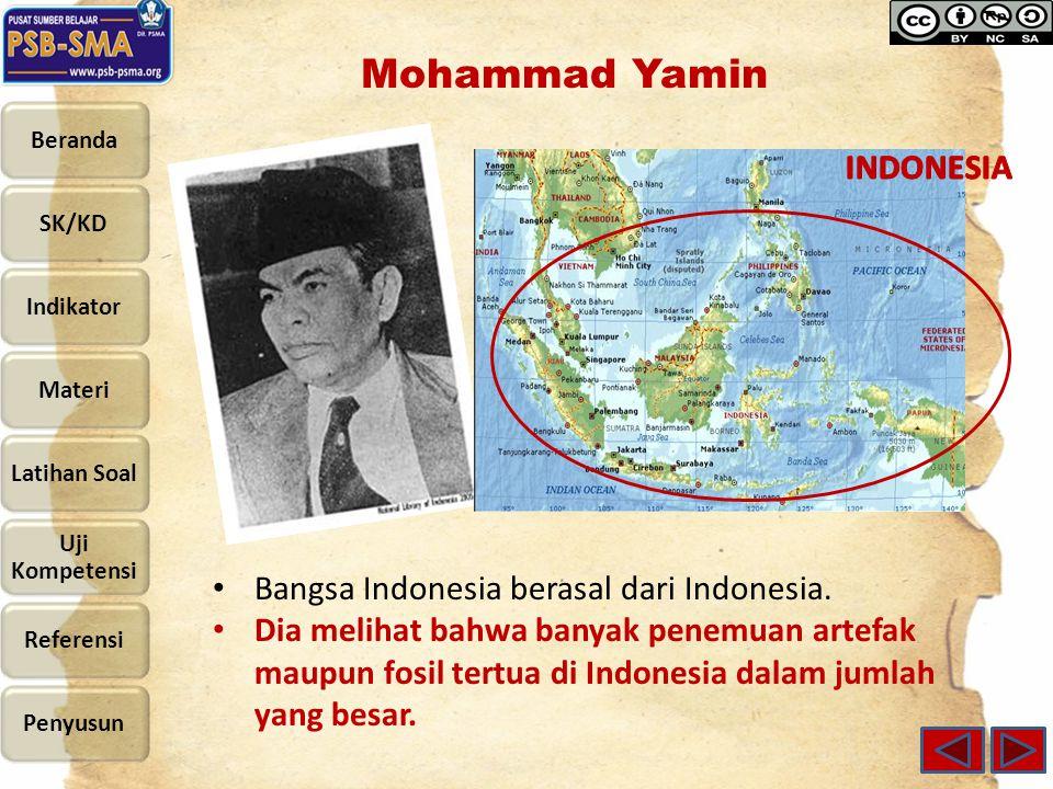 Bangsa Indonesia berasal dari Indonesia.