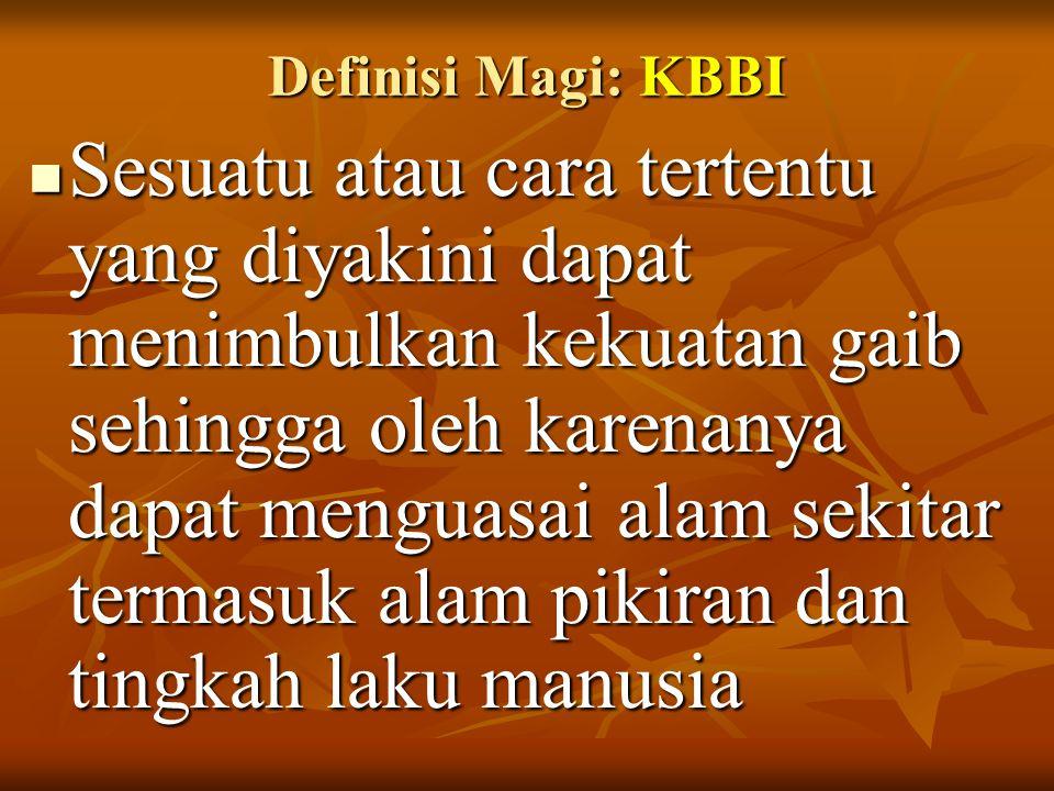Definisi Magi: KBBI