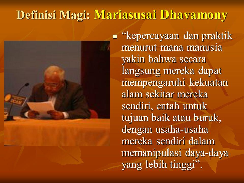 Definisi Magi: Mariasusai Dhavamony