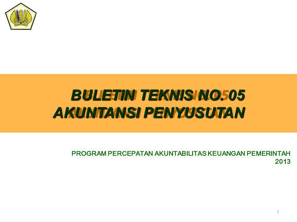 BULETIN TEKNIS NO. 05 AKUNTANSI PENYUSUTAN