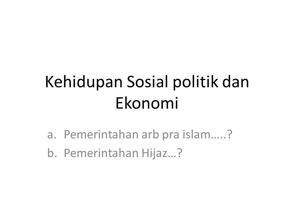 Kehidupan Sosial politik dan Ekonomi