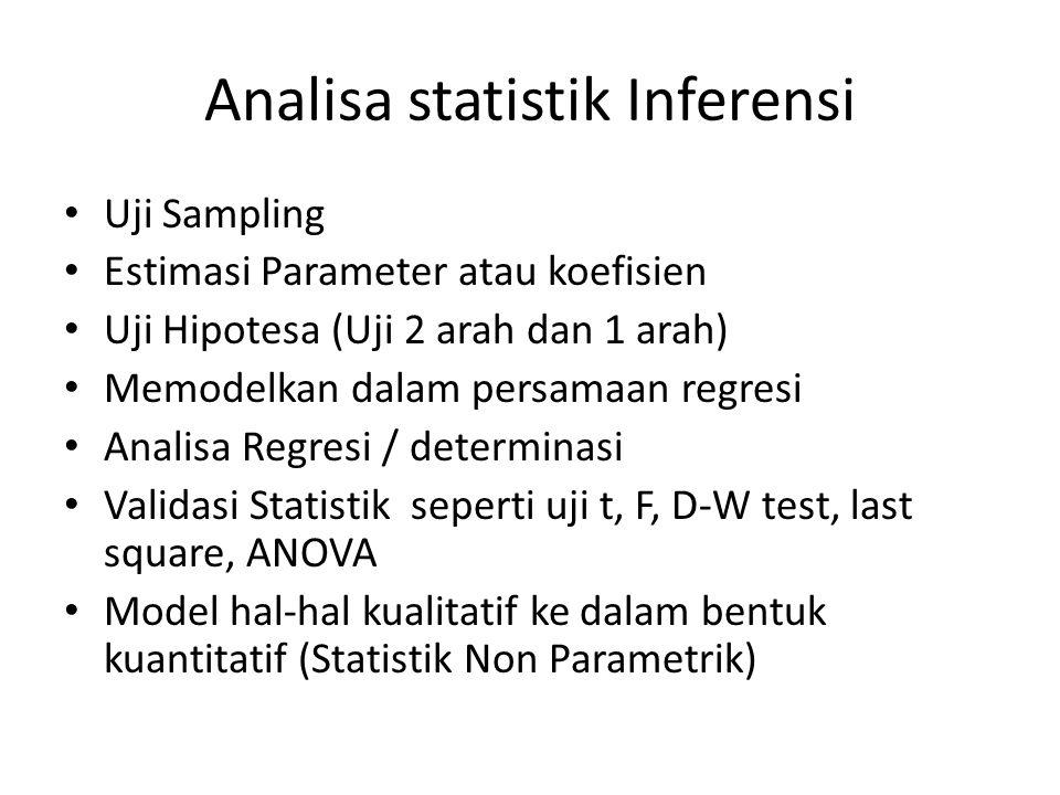 Analisa statistik Inferensi