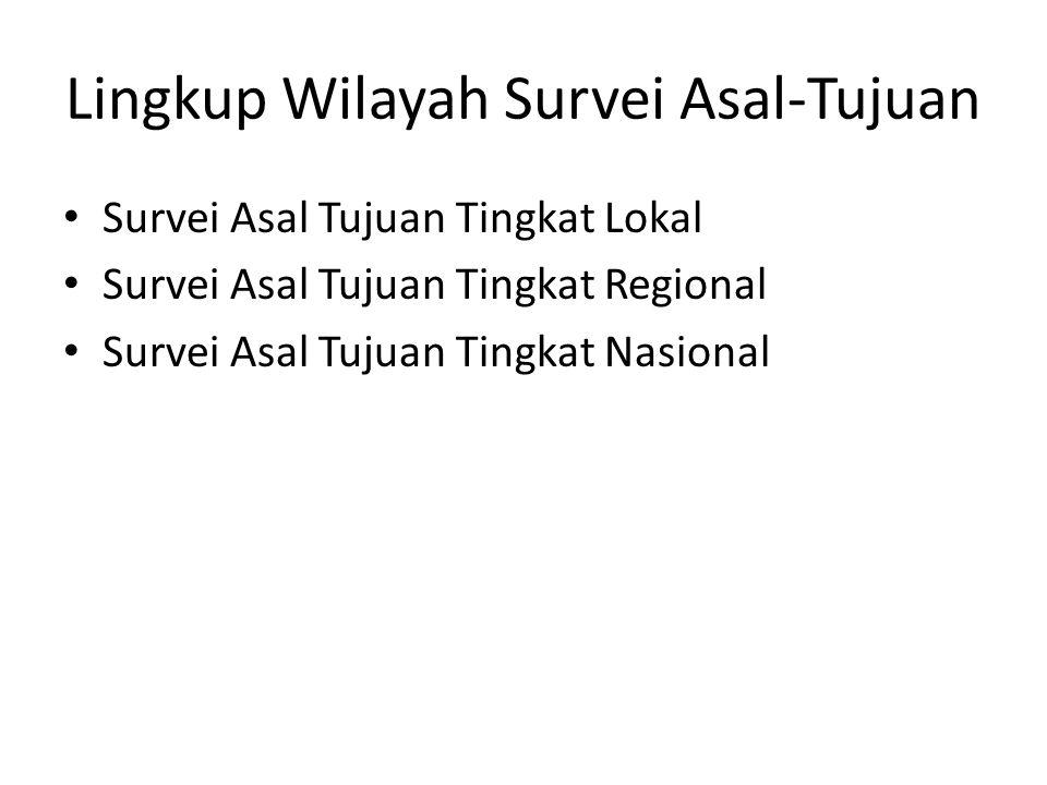 Lingkup Wilayah Survei Asal-Tujuan