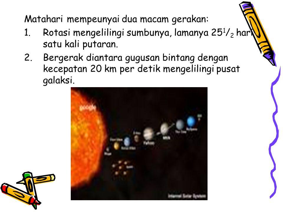 Matahari mempeunyai dua macam gerakan: