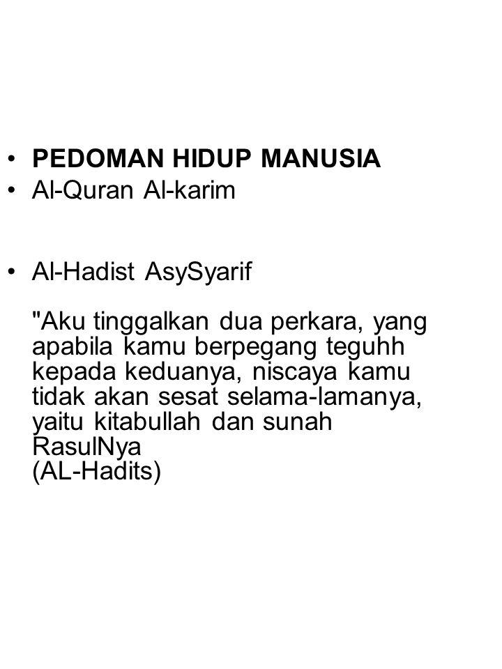 PEDOMAN HIDUP MANUSIA Al-Quran Al-karim.