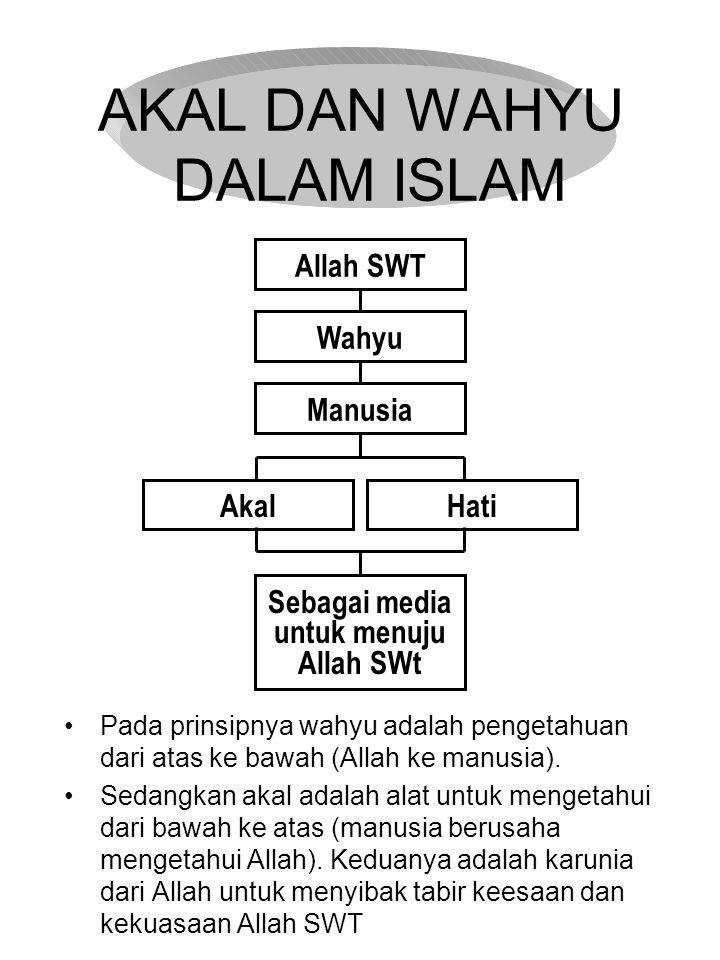 AKAL DAN WAHYU DALAM ISLAM