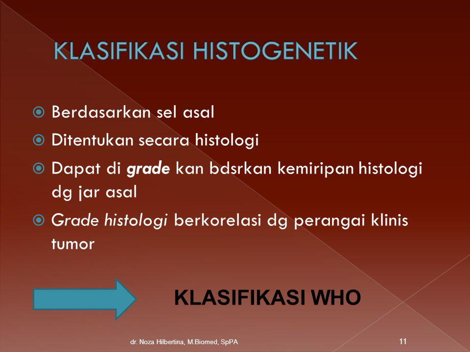 KLASIFIKASI HISTOGENETIK