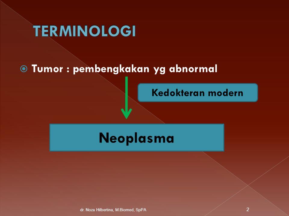 TERMINOLOGI Neoplasma Tumor : pembengkakan yg abnormal
