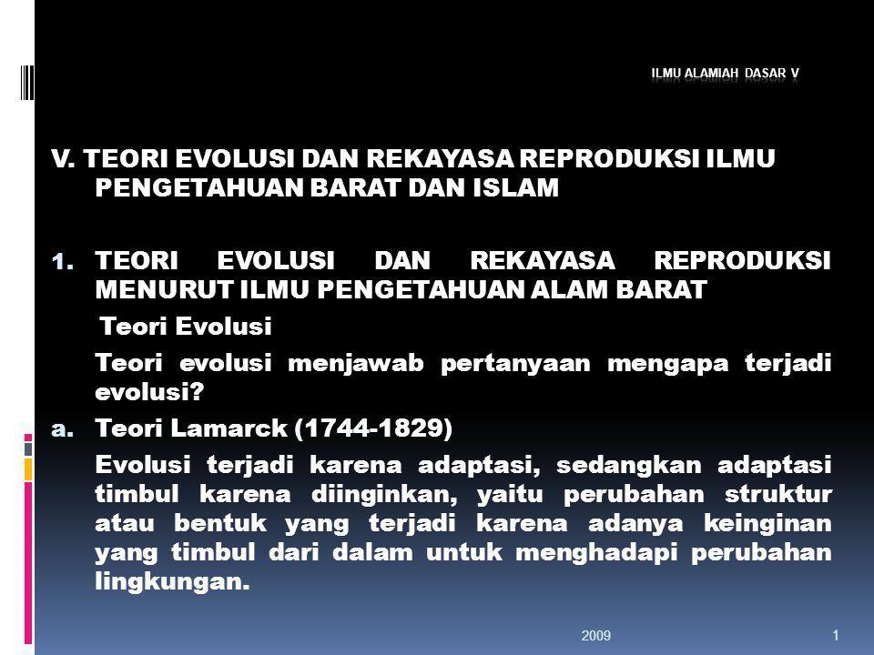 Teori evolusi menjawab pertanyaan mengapa terjadi evolusi