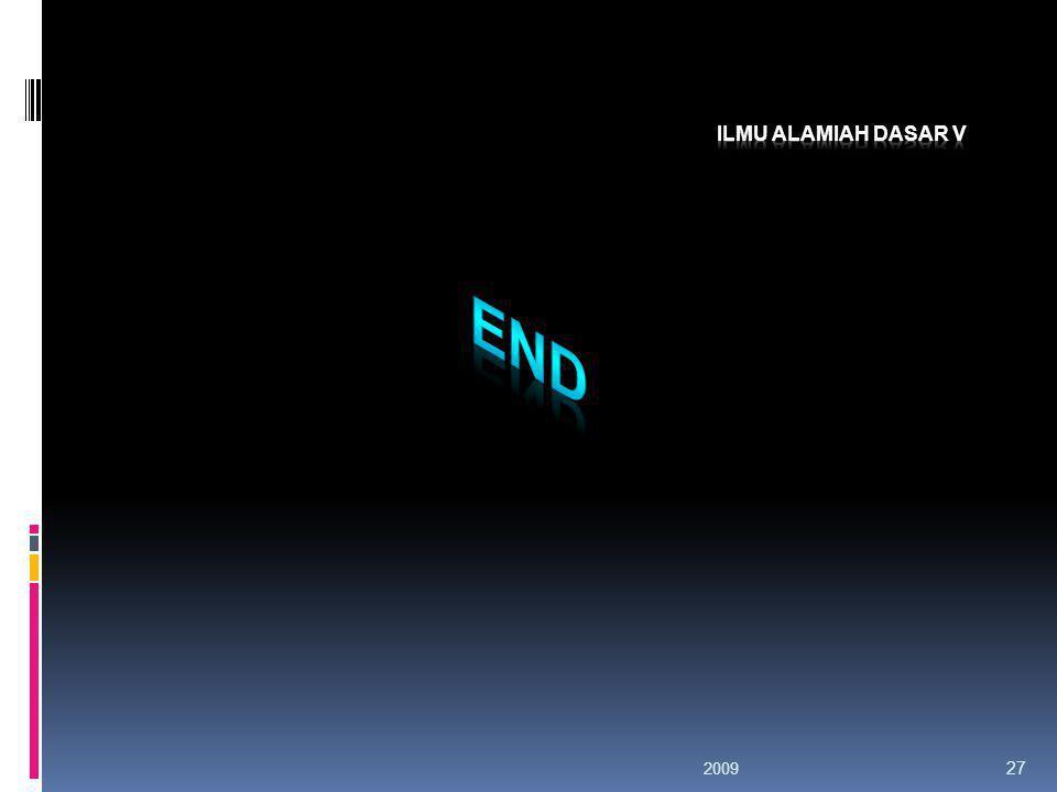 Ilmu Alamiah Dasar V END 2009