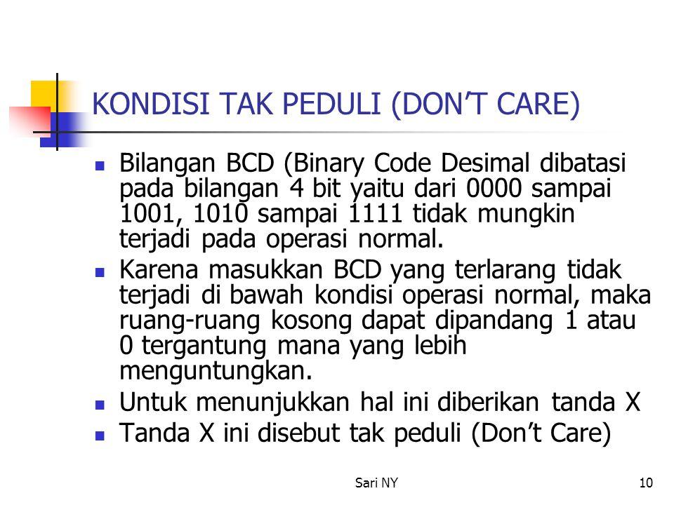 KONDISI TAK PEDULI (DON'T CARE)