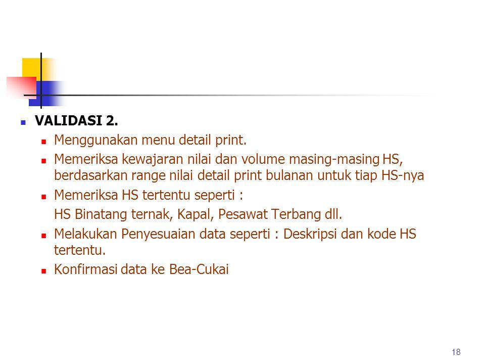 Menggunakan menu detail print.