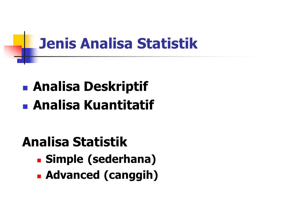 Jenis Analisa Statistik
