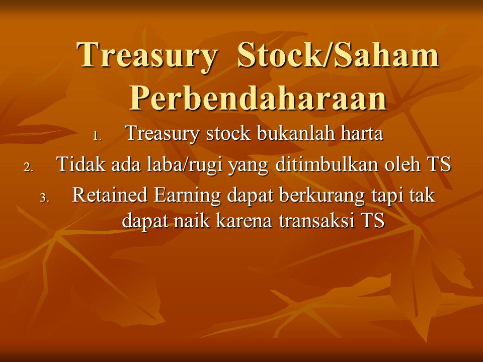 Treasury Stock/Saham Perbendaharaan