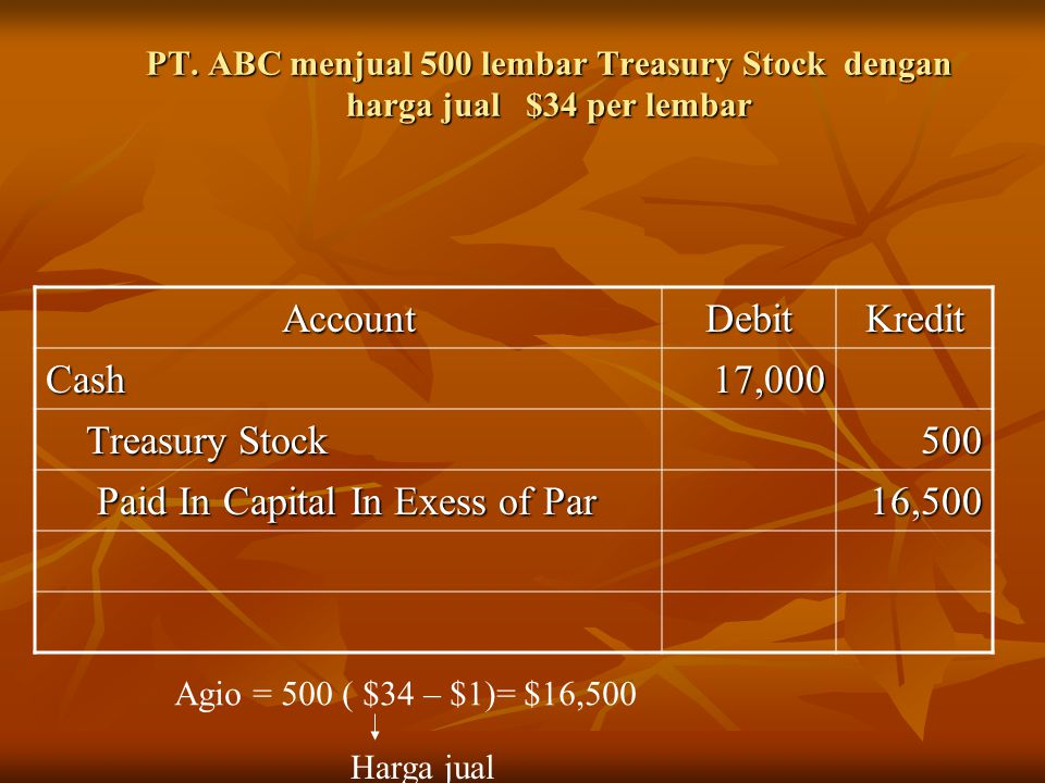Paid In Capital In Exess of Par 16,500
