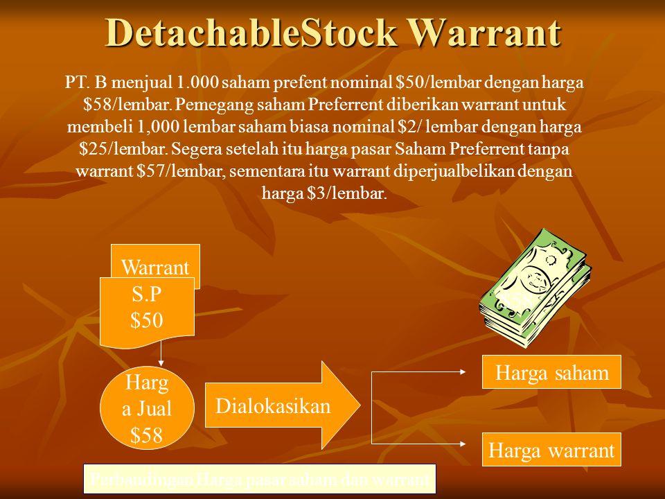 DetachableStock Warrant