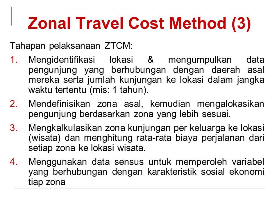 Zonal Travel Cost Method (3)