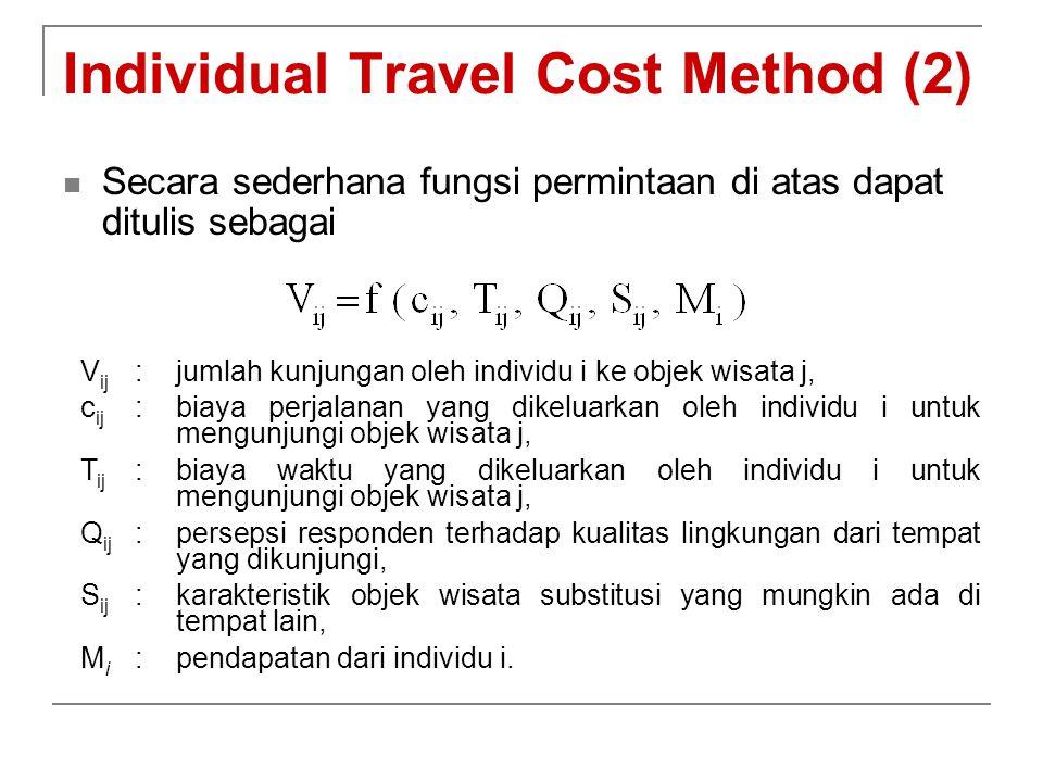 Individual Travel Cost Method (2)