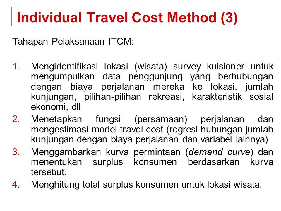 Individual Travel Cost Method (3)