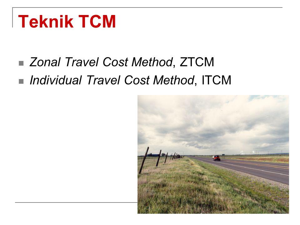 Teknik TCM Zonal Travel Cost Method, ZTCM