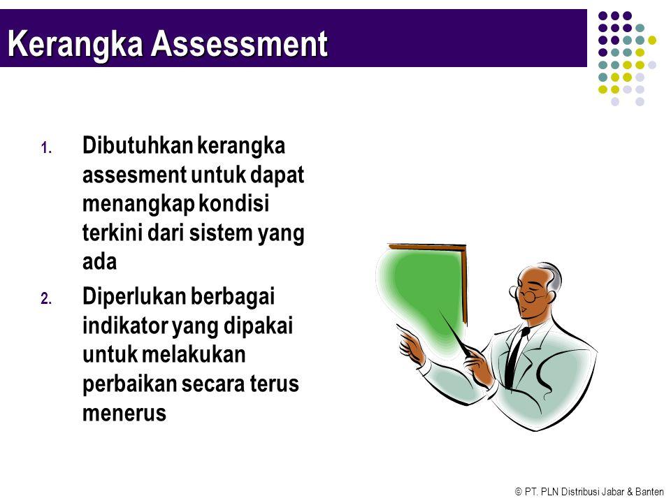 Kerangka Assessment Dibutuhkan kerangka assesment untuk dapat menangkap kondisi terkini dari sistem yang ada.