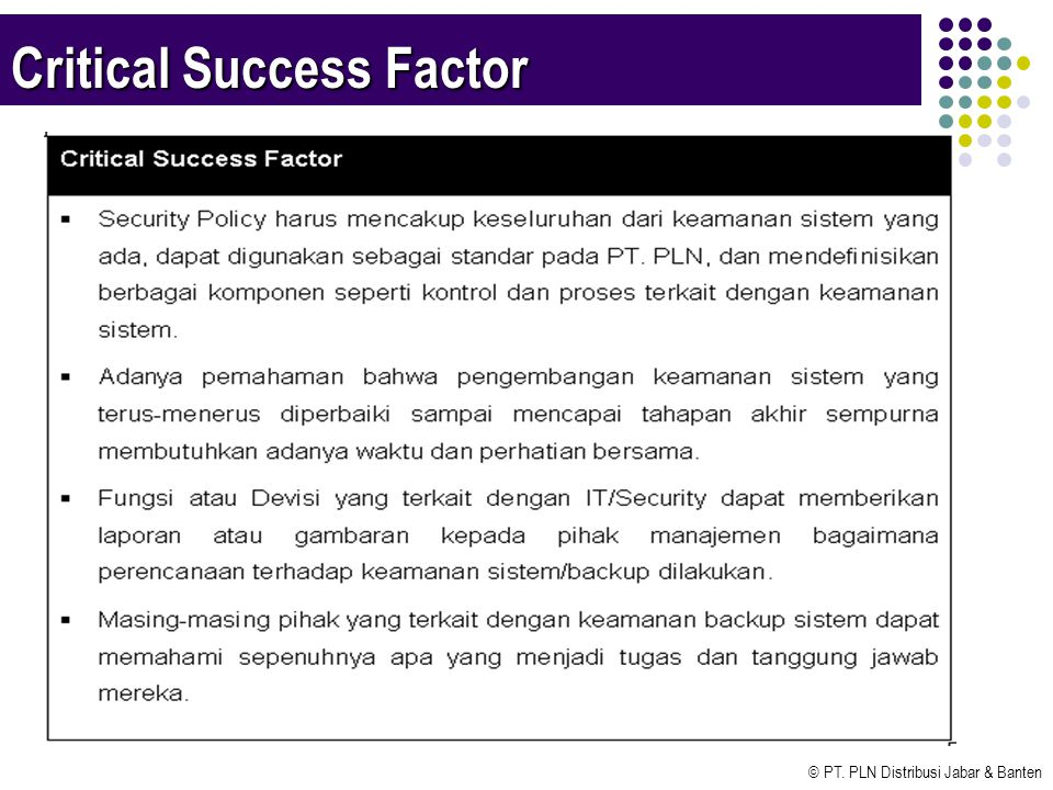 critical success factor Key success factors in it business alignment how it departments align their solutions with business objectives hinge on a number of success factors.