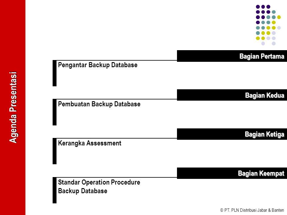 Agenda Presentasi Bagian Pertama Pengantar Backup Database