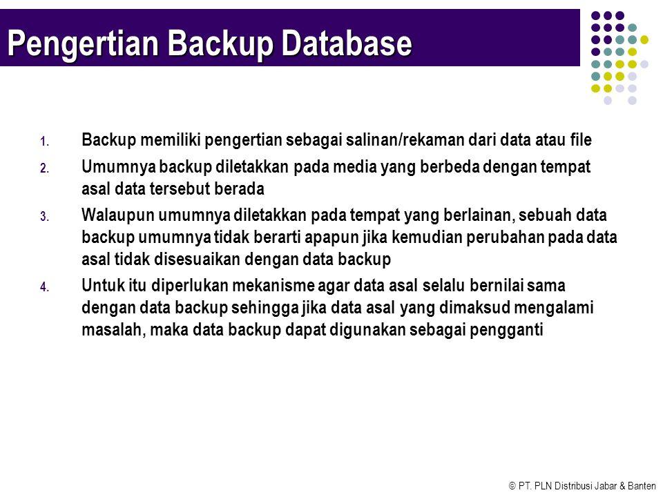 Pengertian Backup Database